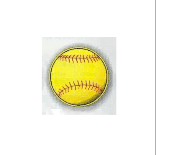 Fast Pitch Softball Magnet