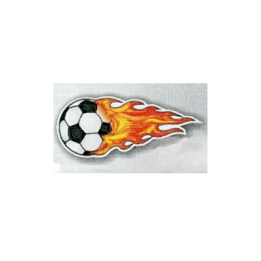 Flaming Soccer Ball Magnet