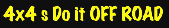 4x4's Do it Off Road Windshield Banner