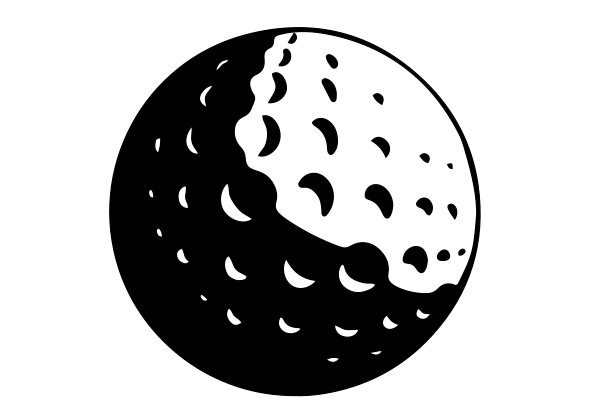 Golf Ball Vinyl Decal