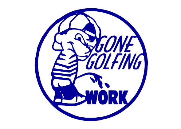 Gone Golfing Vinyl Decal