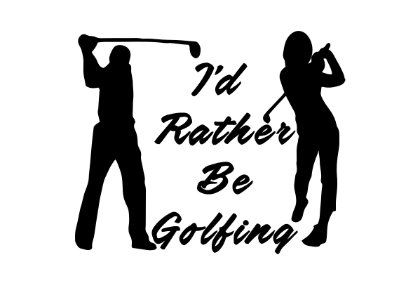 Rather Golf Car Decal