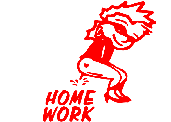 Peegirl Home Work Decal