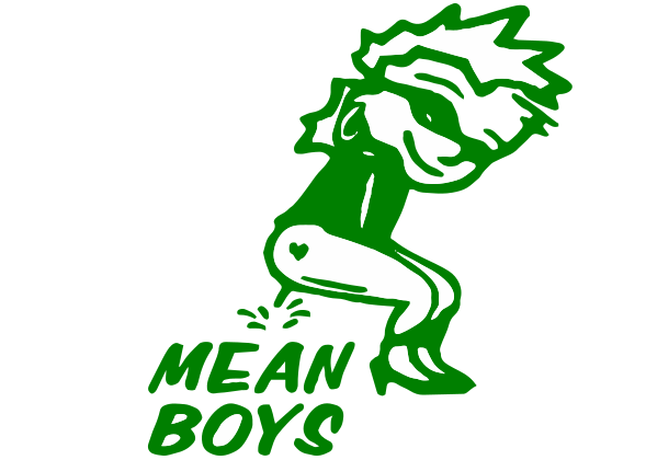 Peegirl Mean Boys Decal
