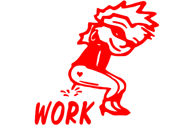Peegirl Work Decal