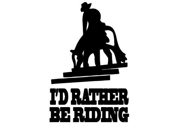 Rather Be Riding Decal