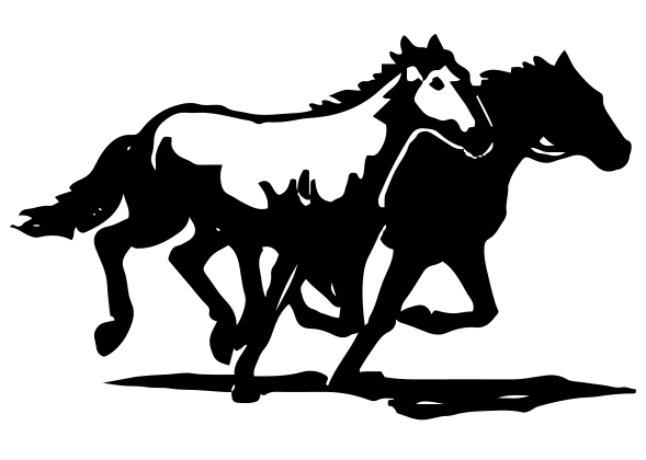 Running Horses Car Decal