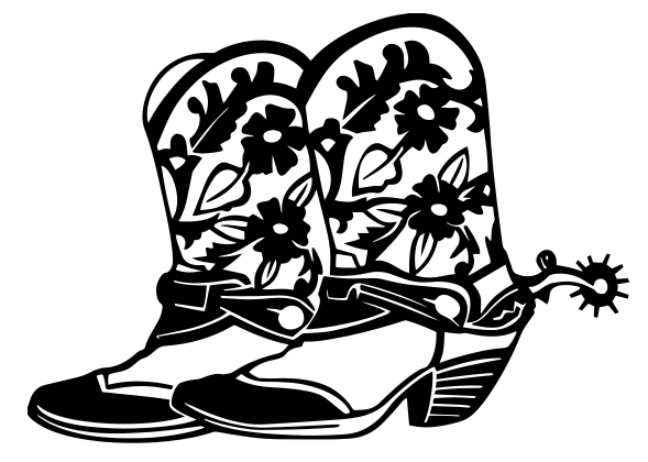 Cowboy Boots Western car window decal sticker
