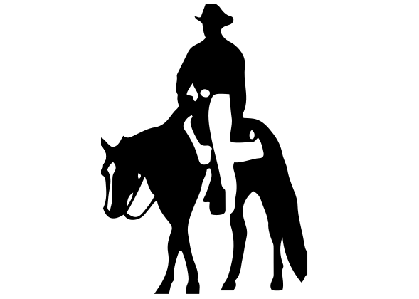 Cowboy on Horse Decal