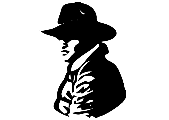 Cowboy Profile Decal