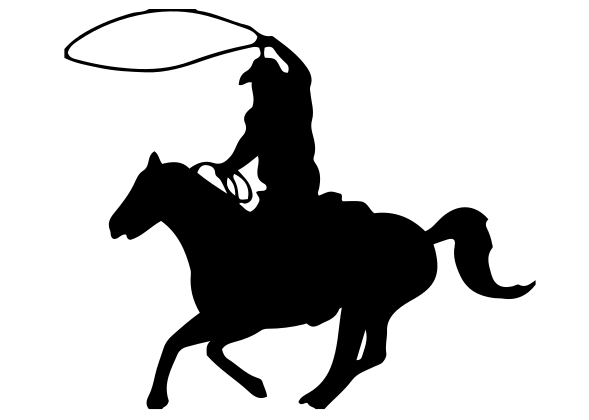 Cowboy Rope Decal