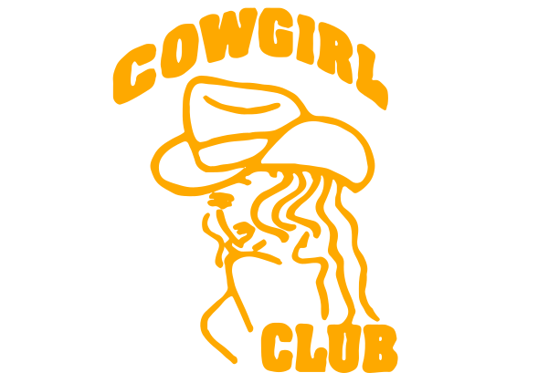 Cowgirl Club Decal