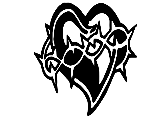 718 - Heart & Barbwire Decal