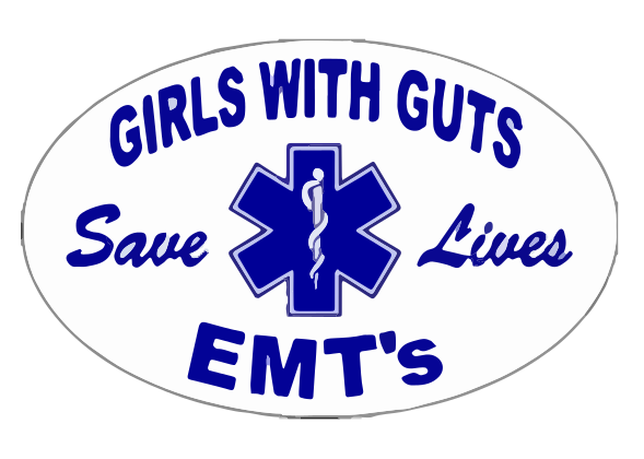 Girls With Guts Save Lives Decal