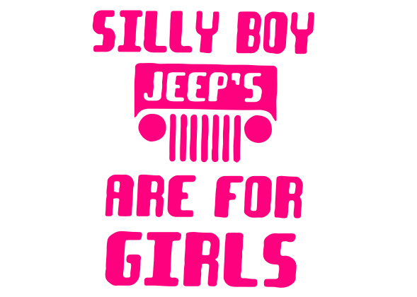 Jeeps are 4 Girls Decal