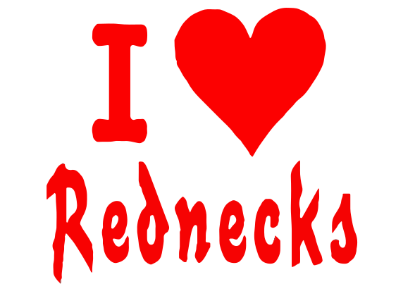 Love Rednecks Decal