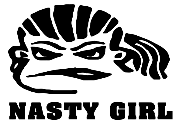 Nasty Girl Vinyl Sticker