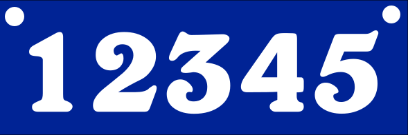 Reflective BLUE Address Sign TOP MOUNT 6x18 inches
