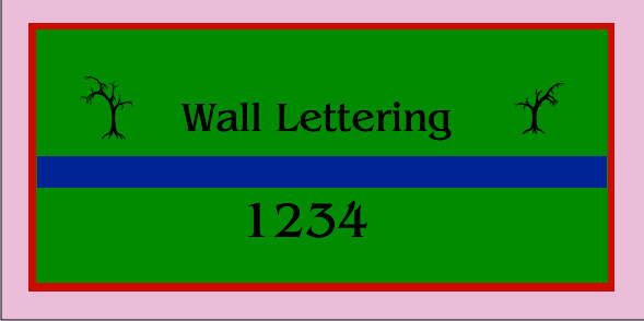 Wall Lettering 48x96
