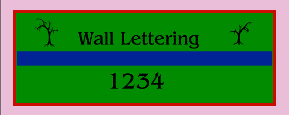 Wall Lettering 48x120