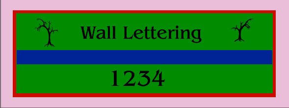 Wall Lettering 36x96