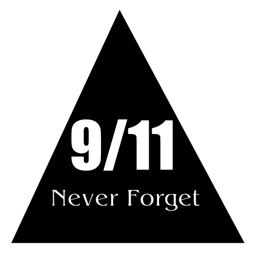 911 Never Forget Black Triangle Sticker