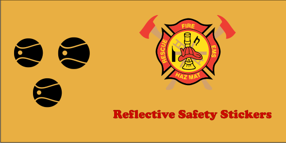 Reflective Safety 2x4 Stickers