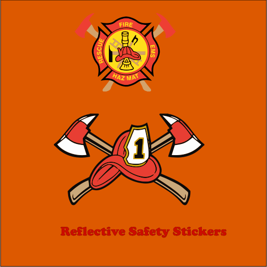 Reflective Safety 4x4 Stickers