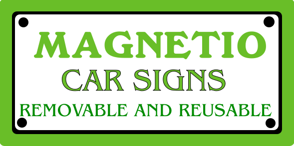 Auto/Truck Magnetic Sign 10x20 inches