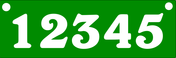 Reflective GREEN Address Sign TOP MOUNT 6x18 inches