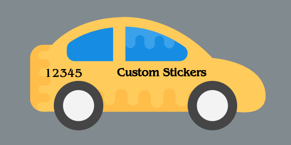Custom Sticker 6x12inches