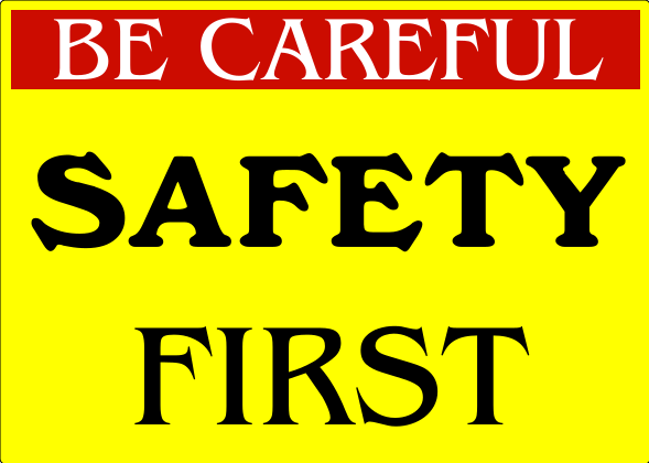 Safety Signs Yellow 10x14 inches