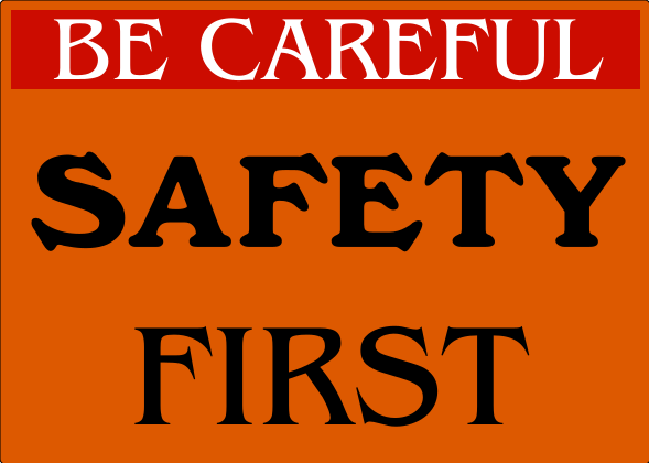 Safety Signs Orange 10x14 inches