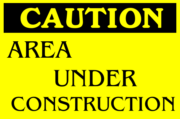 Construction Signs 12x18 inches
