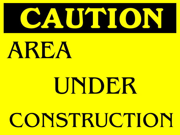 Construction Signs 18x24 inches