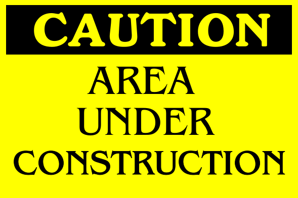 Construction Signs 24x36 inches