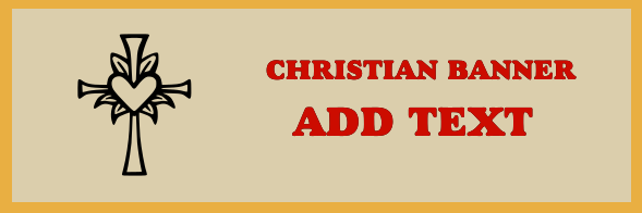 Christian Banner 24x72 inches