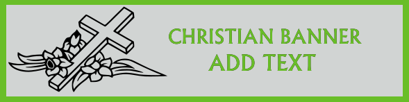 Christian Banner 24x96 inches