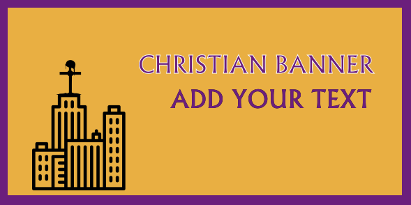 Christian Banners 36x72 inches