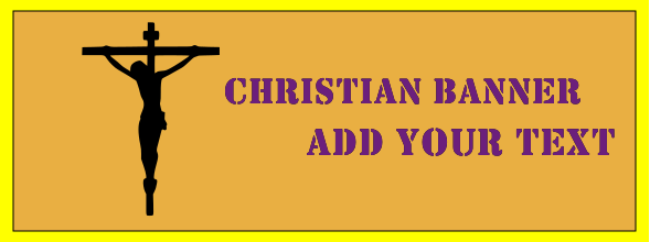 Christian Banners 36x96 inches