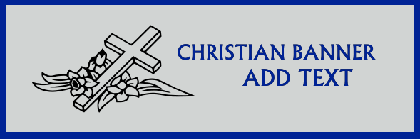 Christian Banners 48x144 inckes