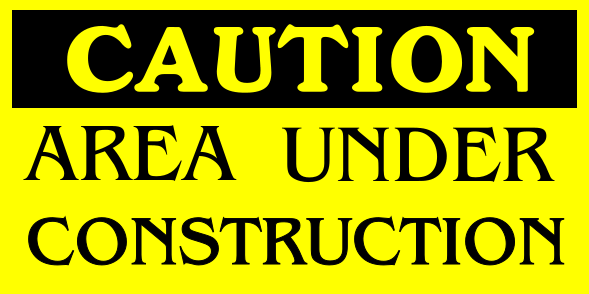 Construction Signs 6x12 inches
