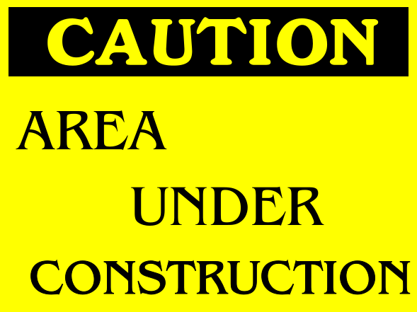 Construction Signs 12x16 inches