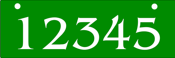Reflective GREEN Address Sign BOTTOM MOUNT 6x18 inches