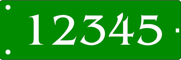 Reflective GREEN Address Sign SIDE MOUNT 6x18 inches