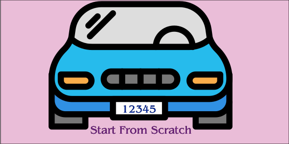 Start Form Scratch License Plate
