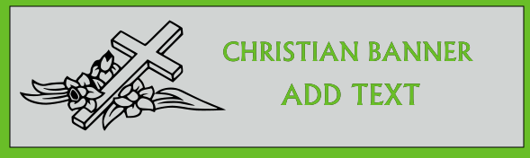 Christian Banner 36x120 inches