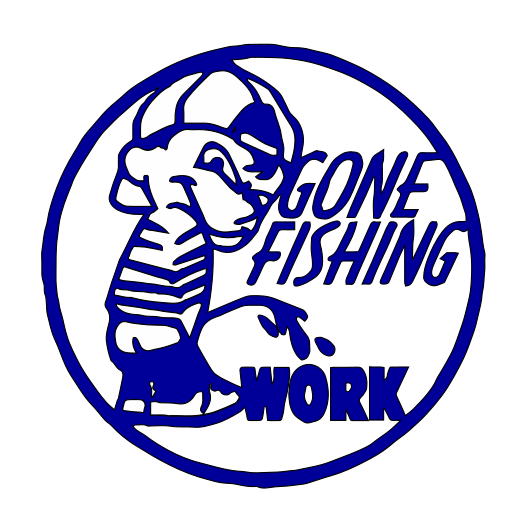Gone Fishing vinyl decal B