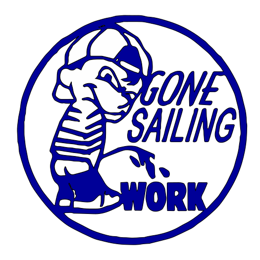 Gone Sailing vinyl decal D