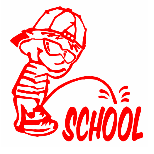 Peeon School decal
